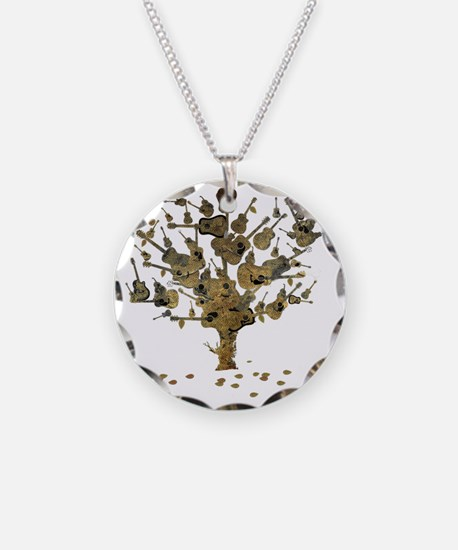 Guitar Tree Necklace