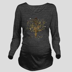 Guitar Tree Long Sleeve Maternity T-Shirt