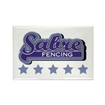 Sabre Fencing Rectangle Magnet