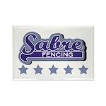Sabre Fencing Rectangle Magnet