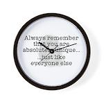 Unique Like Everyone Else Wall Clock