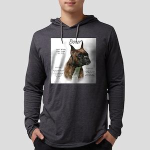 Boxer (brindle) Mens Hooded Shirt