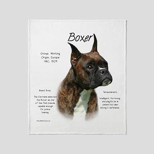 Boxer (brindle) Throw Blanket