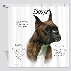 Boxer (brindle) Shower Curtain