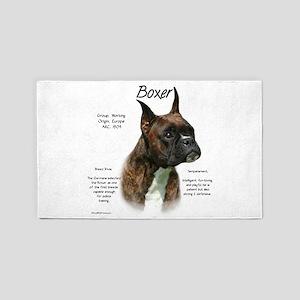 Boxer (brindle) Area Rug