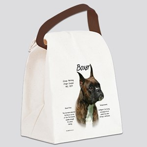 Boxer (brindle) Canvas Lunch Bag
