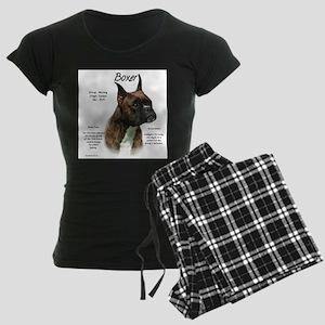 Boxer (brindle) Women's Dark Pajamas