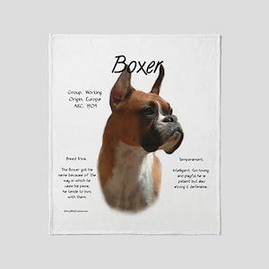 Boxer (fawn) Throw Blanket