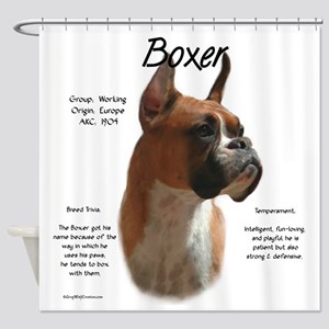 Boxer (fawn) Shower Curtain