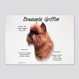 Brussels Griffon (rough) 5'x7'Area Rug