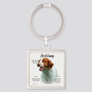 Brittany Square Keychain