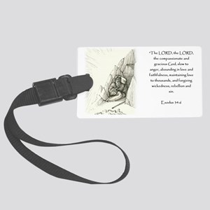 Exodus 34:6 Large Luggage Tag