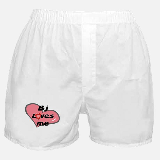 bj loves me  Boxer Shorts