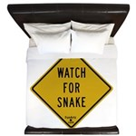 Watch for snake King Duvet