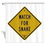 Watch for snake Shower Curtain