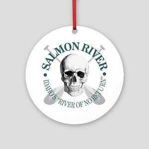 Salmon River Round Ornament