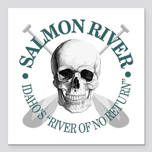 "Salmon River Square Car Magnet 3"" x 3"""