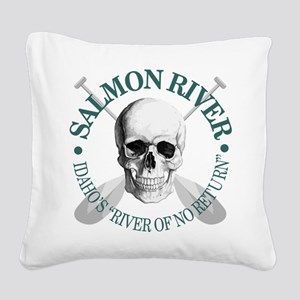 Salmon River Square Canvas Pillow