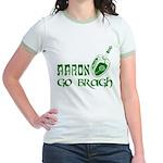Irish & Jewish Aaron Go Bragh Jr. Ringer T-Shirt
