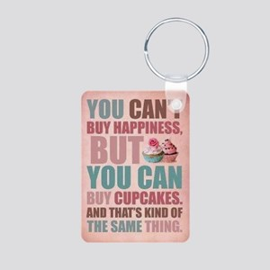 Cupcake Wear Aluminum Photo Keychain