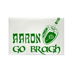 Irish & Jewish Aaron Go Bragh Rectangle Magnet