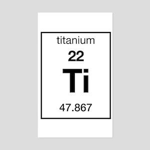 Periodic table titanium stickers cafepress titanium rectangle sticker urtaz Gallery