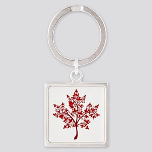 Canadian Maple Leaf Tree Keychains