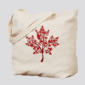 Canadian Maple Leaf Tree Tote Bag