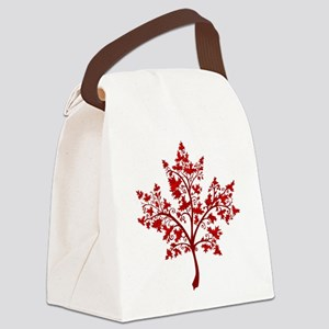 Canadian Maple Leaf Tree Canvas Lunch Bag