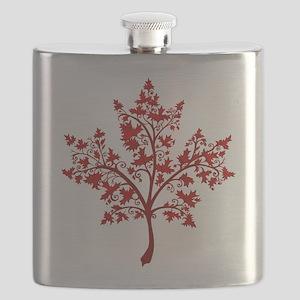Canadian Maple Leaf Tree Flask