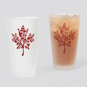 Canadian Maple Leaf Tree Drinking Glass