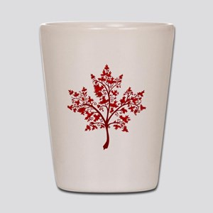 Canadian Maple Leaf Tree Shot Glass