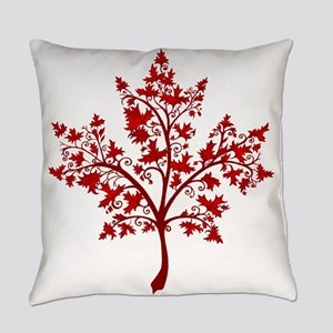 Canadian Maple Leaf Tree Everyday Pillow