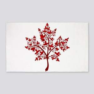 Canadian Maple Leaf Tree Area Rug