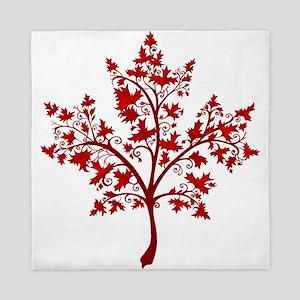 Canadian Maple Leaf Tree Queen Duvet