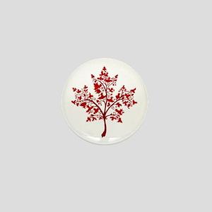 Canadian Maple Leaf Tree Mini Button