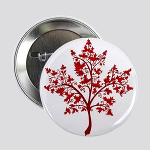 """Canadian Maple Leaf Tree 2.25"""" Button (10 pack)"""
