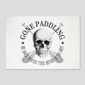 Gone Paddling -Skull 5'x7'Area Rug