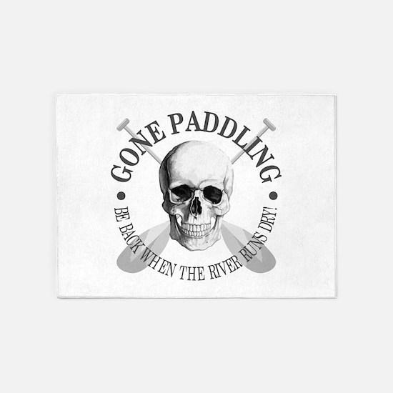 Gone Paddling -Skull 5'x7'Area Rug