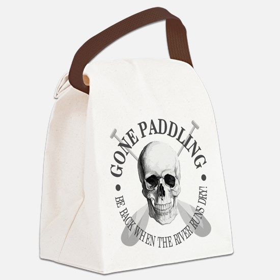 Gone Paddling -Skull Canvas Lunch Bag