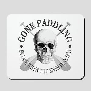 Gone Paddling -Skull Mousepad