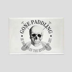 Gone Paddling -Skull Magnets