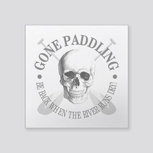 Gone Paddling -Skull Sticker