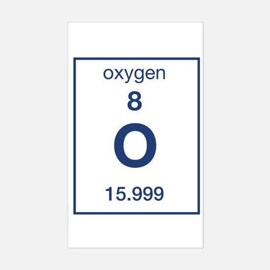 Oxygen Rectangle Decal