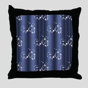 Metallic Teal Christmas Throw Pillow