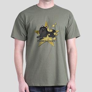 Pomeranian Stars Dark T-Shirt