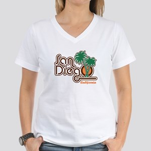 San Diego CA Women's V-Neck T-Shirt
