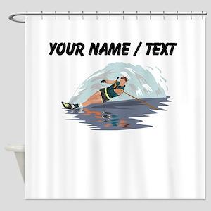 Custom Water Skiing Shower Curtain