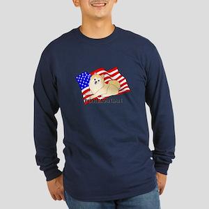 Pomeranian USA Long Sleeve Dark T-Shirt