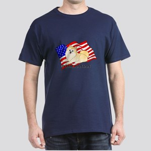 Pomeranian USA Dark T-Shirt